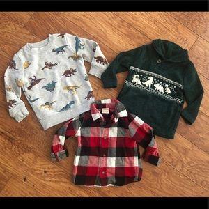 Toddler Fleece Sweatshirts and Flannel, 18 Mo